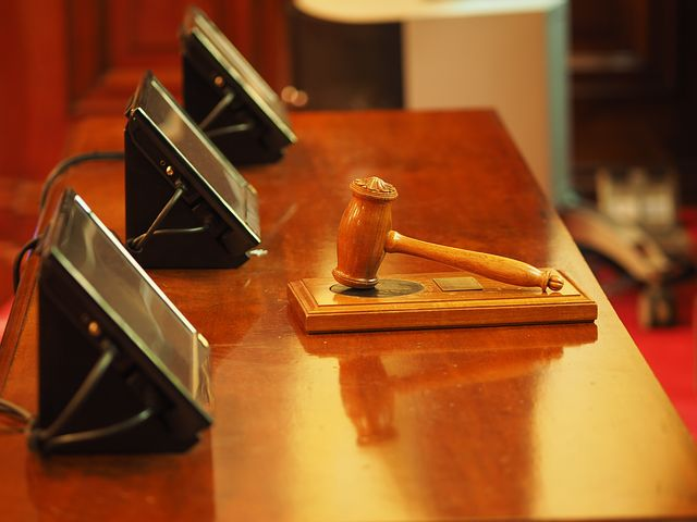 gavel inside the court